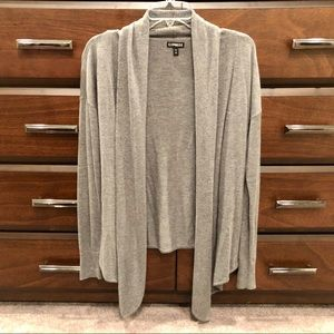 Express super soft grey cardigan- Small